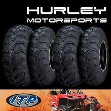 ITP Mud Lite AT 24x8-12 Front 560430 - 24x10x11 56A328 Rear ATV Tires - Set of 4