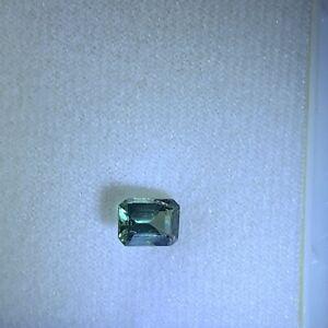 AUSTRALIAN EMERALD CUT SAPPHIRE 1.2 CT 7.1 x 5.1MM GREEN VVS
