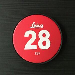 Custom Leica Front Laser Engraved 80mm Lens Cap For Leica R Cinevised Mount 28mm