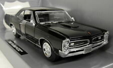 Newray 1/25 Scale 71853 1966 Pontiac GTO Black Diecast model car