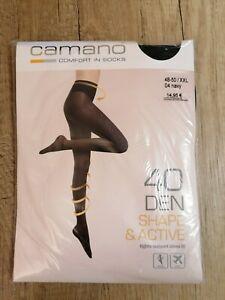 Camano 40 DEN Shape & Active Strumpfhose Damen Navy Dunkelblau Gr. 48-50 /...