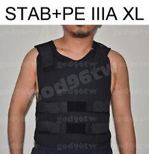 STAB+ PE Bullet Proof Vest/Jacket Body Armor NIJ Level IIIA 3A 38 Layers XL