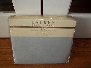 NIP Ralph Lauren Huntley Pearl Gray Twin Duvet Cover & 1 Euro Sham
