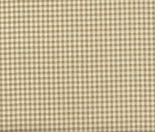"NEW Gathered 18"" French Country Gingham Check Linen Beige Queen Bedskirt Cotton"