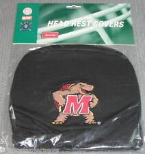NCAA NWT HEAD REST COVERS -SET OF 2- MARYLAND