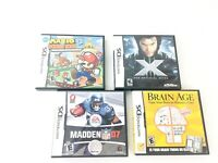 Lot of 4 Nintendo DS Games;  Pre-owned Good condition Mario Madden X Brain
