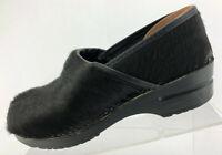 Sanita Clogs Black Fur Comfort Professional Shoes Casual Womens Sz 40 US 9.5/10