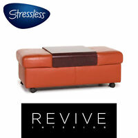 Stressless Arion Leder Hocker Terrakotta Orange #12706