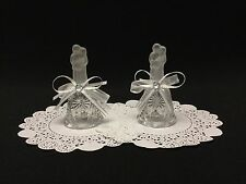 Set of 6 Bride & Groom Decorated Wedding Bell Favors, Gifts, Decoration, Crystal