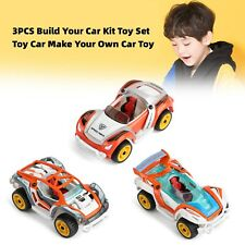 3PCS Build Your Car Kit Toy Set Toy Car Make Your Own Autospielzeug S4