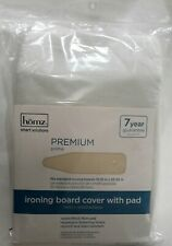 """Homz 1915074 Natural 7-Yr 100% Cotton Ironing Board Cover W/ Pad 55"""" L x 15"""" W"""