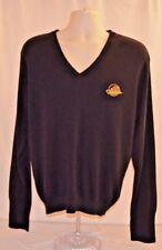 VTG 90s NHL Vancouver Canucks Sweater Embroidered Logo Fletcher V Black Mens XL