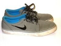 Nike SB Clutch Skate Sneakers Shoes Low Tops Gray Blue Black Mens Size 11