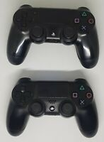 2 X Sony PS4 Official DualShock Controllers V1 Black FULLY WORKING controller x2