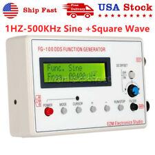 Dds Function Signal Generator Module 1hz 500khz Sine Square Wave Case Fg 100