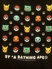 A BATHING APE BAPE x POKEMON ISETAN TEE Black Size L milo pikachu fragment