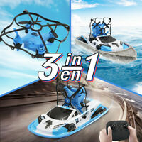 2.4G Mini Drones Boat Car 3-IN-1 Toys For Kids RC Helicopter Drone Quadrocopter