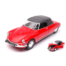CITROEN DS 19 1956 CABRIOLET SOFT TOP RED 1:24 Welly Auto Stradali Die Cast