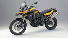 "Yellow BMW F800GS Motorcycle - 42"" x 24"" LARGE WALL POSTER PRINT NEW."