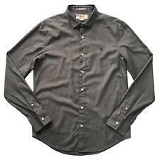 PENGUIN Grey Heritage Slim Fit Shirt Size M Long Sleeve Casual Shirt