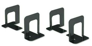 Bookends Black Premium Metal, 5 inch High 2 Pair, 4 bookends