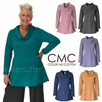 CMC by COLOR ME COTTON USA 5065 French Terry PRINCESS DETAIL TUNIC Top 2017 FALL