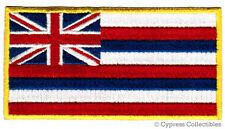HAWAII STATE FLAG PATCH EMBROIDERED IRON-ON HAWAIIAN ISLANDS HI APPLIQUE EMBLEM