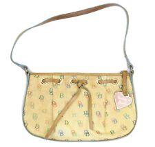 VTG Dooney & Bourke Beige Signature Logo Monogram Shoulder Bag Handbag Purse