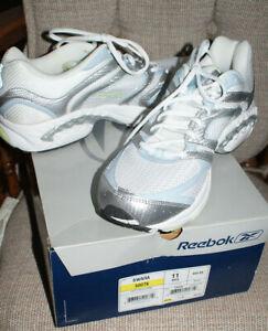Reebok Swara Cushion Running Shoe White/Silver 11M Ladies Woman's Fast Shipping
