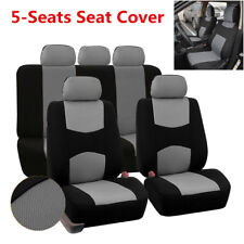 9pcs 5-Seats Car Seat Covers Cushion Front + Rear Headrest Cover For All Seasons