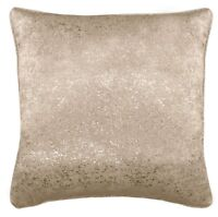 "2 X GOLD GLITTERED SPARKLE GOLD NATURAL VELVET LOOK 17/"" CUSHIONS COVERS £10.65"
