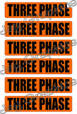 Three Phase Volt | Conduit Markers | Stickers | Decals Labels Electrical Voltage