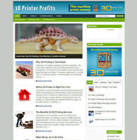 3D PRINTER PROFITS ADVICE AFFILIATE STORE FULLY STOCKED + FREE DOMAIN & HOSTING
