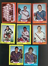 1973 - 74 Topps Hockey Set NEW YORK RANGERS Near Team Set Lot