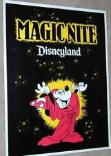 Disneyland 1979 POSTER Magic Nite Walt Disney Mickey Mouse Sorcerer's Apprentice