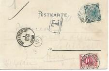 Puchberg am Schneeberg POSTCARD WITH 5 HELLER AND POSTAGE DUE 1902 MY REF 162