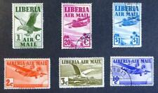 1938 Selection of Liberia mint/used/hinged stamps -Air Mail No D-596