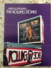 Bally Rolling Stones pinball brochure - 1980