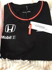 New listing Official McLaren Honda F1 Women's 2016 Team Set Up T-Shirt, Black New SMALL