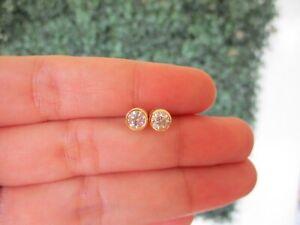 SALE‼️.64 CTW Diamond Donut Earrings 18k Yellow Gold E701 sep