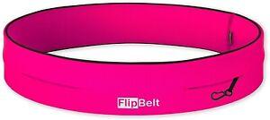 FlipBelt Classic Running Belt Pink Multi Pocket Secure Storage Sports Waist Bag
