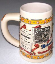 """1993 BUDWEISER """"ADVERTISING THROUGH THE DECADES"""" 1st in Series Stein COLLECTIBLE"""