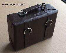 Medium Suitcase in Brown, Dolls House Miniature Dolls Accessory