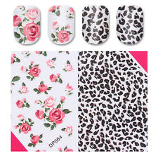 Nail Sticker Rose Flower Leopard Print Combined Decoration Nail Art Decal DP064