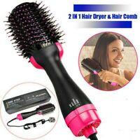Profession 2 In1 Pro One Step Hair Dryer and Volumizer Brush Curling Iron Comb