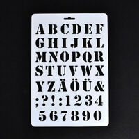 4X(Lettering Stencils, Letter and Number Stencil, Painting Paper Craft Alpha F1)
