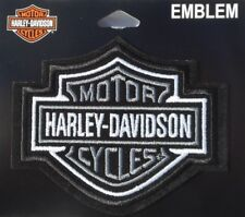 Harley Davidson Bar And Shield Black Silver Sew On Embroidered Patch Licensed