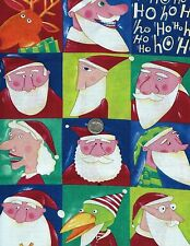 CHRISTMAS 10 - NANCY WOLFF HOLIDAY PATCHES FABRIC OOP  HTF  QUILTERS & CRAFTERS