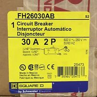 Square D FH26030AB I-Line Circuit Breaker 30A 2P 600V - New