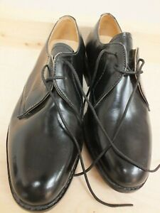 Samuel Windsor Oxford Leather Hand Made Black Shoes Size 5 (Hol)